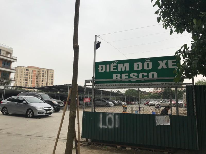 Đây là bãi trông giữ xe Resco bị một số người dân phản ánh xây dựng và trông giữ xe ô tô trái phép