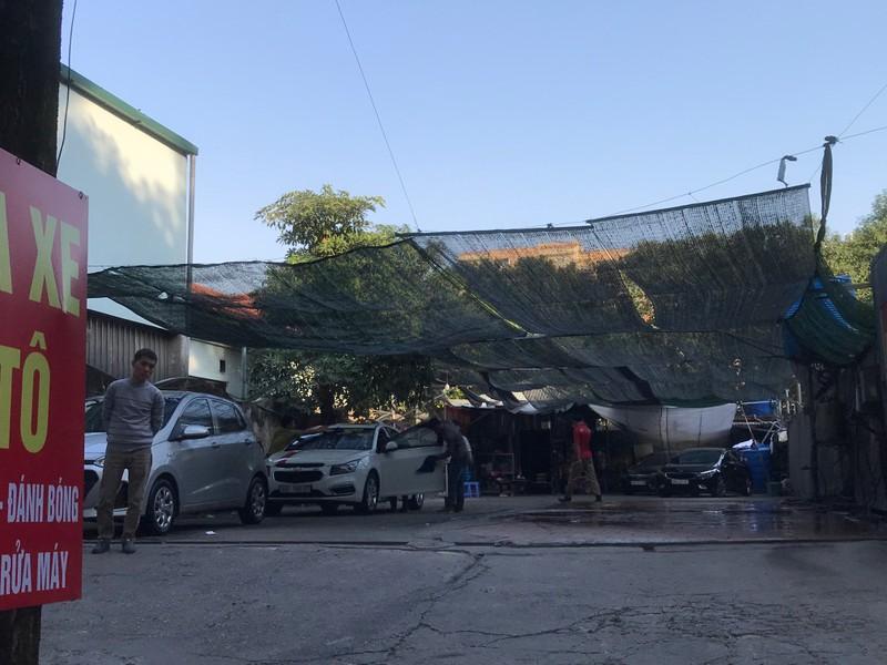 """Khu đất Dự án 'biến"""" thành Trung tâm dịch vụ rửa xe trước khi bị phát lộ"""