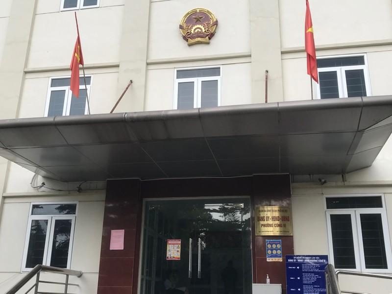 Trụ sở UBND phường Cống Vị