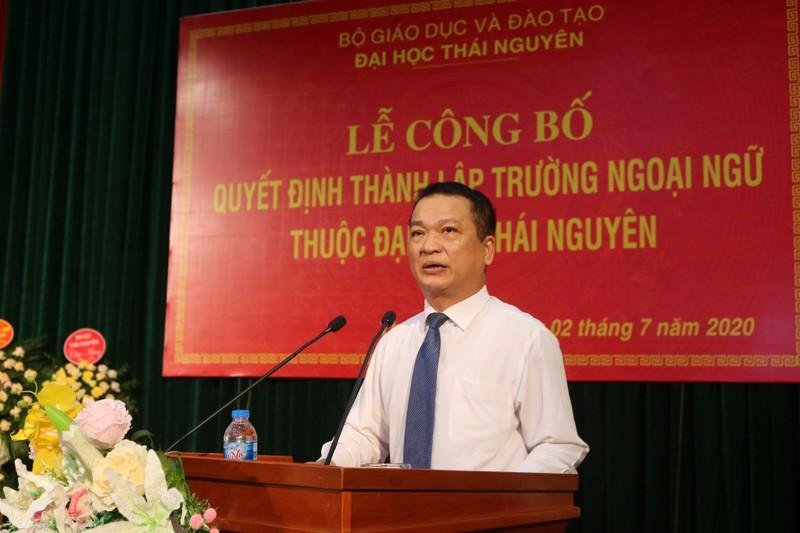 Đại học Thái Nguyên: Công bố Quyết định thành lập Trường Ngoại ngữ thuộc Đại học Thái Nguyên