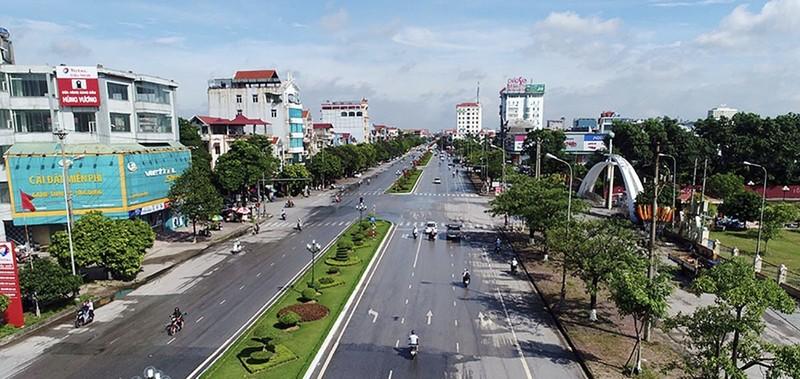 Đây là một trong những tuyến đường của thành phố Bắc Giang