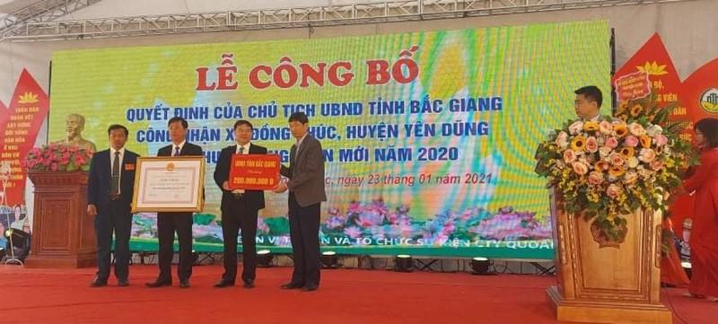 Xã Đồng Phúc (Bắc Giang) nhận Bằng công nhận đạt chuẩn nông thôn mới