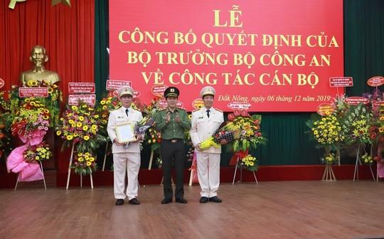 Buổi lễ trao quyết định điều động bổ nhiệm cho hai Giám đốc công an Đắk Lắk và Đắk Nông