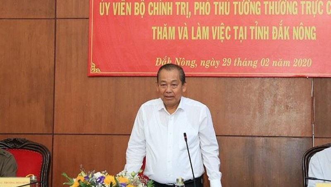 Phó Thủ tướng Trương Hòa Bình làm việc với tỉnh Đắk Nông