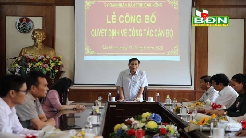 Chủ tịch UBND tỉnh Đắk Nông Nguyễn Bốn phát biểu tại buổi lễ. Ảnh: Báo Đắk Nông