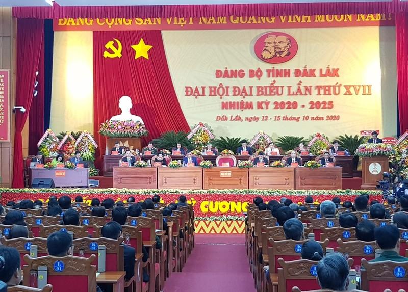 Phiên khai mạc Đại hội đại biểu Đảng bộ tỉnh Đắk Lắk lần thứ XVII. Ảnh: Tự Lập