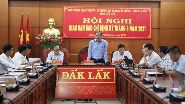 Tỉnh ủy Đắk Lắk thông tin về bầu cử ĐBQH và ĐB HĐND các cấp nhiệm kỳ 2021-2026.