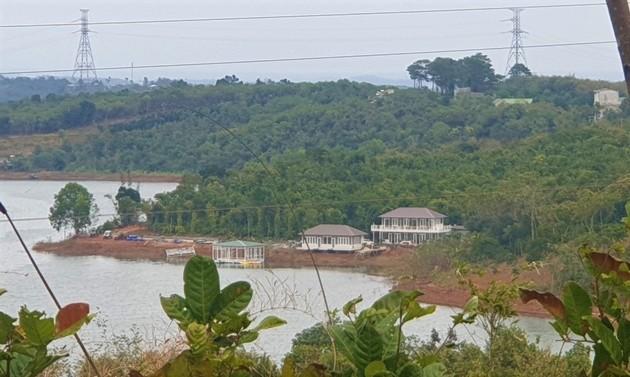Báo cáo kết quả khắc phục vụ xây khu nghỉ dưỡng trái phép trên đất rừng bán ngập trước 30/4
