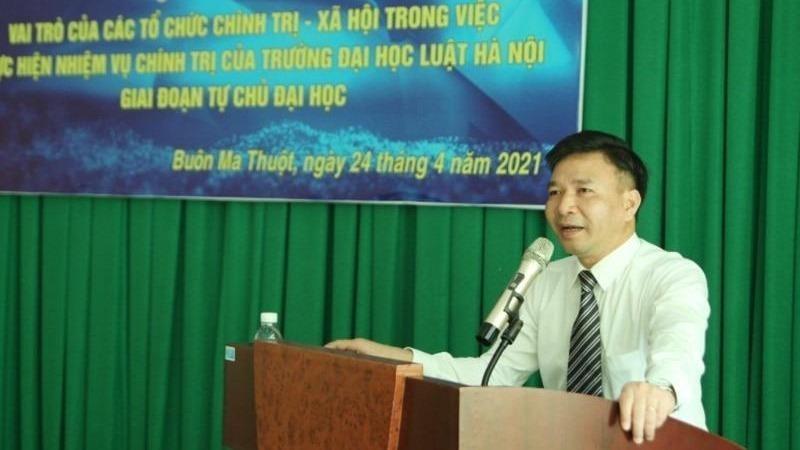 Đại học Luật Hà Nội tổ chức hội thảo khoa học thực hiện nhiệm vụ chính trị trong giai đoạn tự chủ đại học