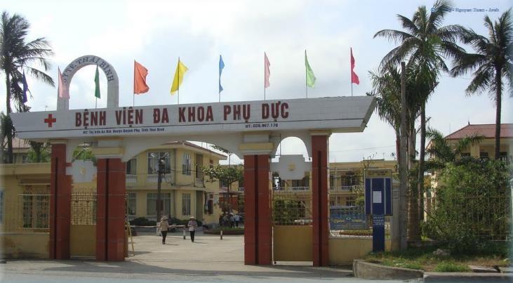 Bệnh viện Đa khoa Phụ Dực (huyện Quỳnh Phụ, tỉnh Thái Bình) nơi tiếp nhận bệnh nhân âm tính với Virus Corona.