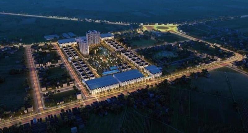 Phối cảnh tổng thể Dự án phát triển nhà ở thương mại tại xã Đông Mỹ, TP Thái Bình.