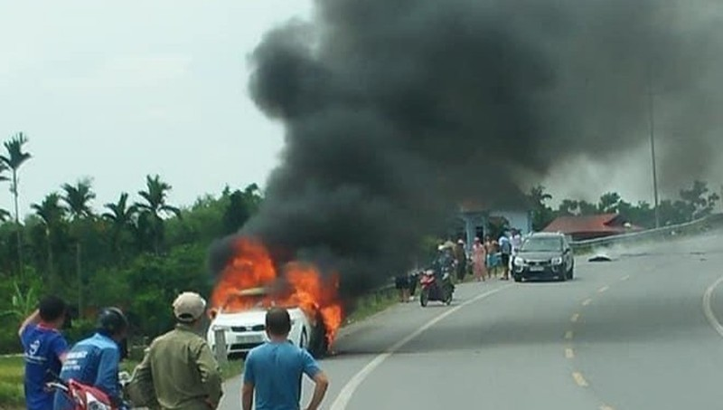 Ô tô cháy rụi ở Thái Bình được chủ nhân rao bán chưa lâu