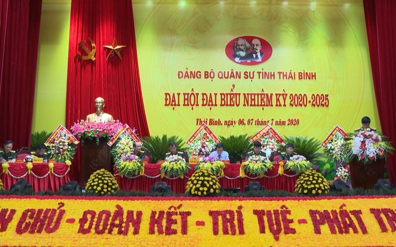 Đại hội Đại biểu Đảng bộ Quân sự tỉnh Thái Bình nhiệm kỳ 2020 - 2025.