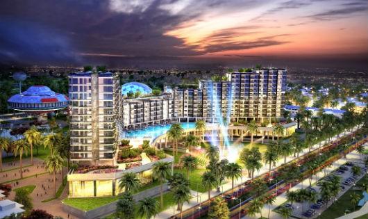 Phối cảnh dự án FLC Grand Hotel Sầm Sơn ngày 8/4.