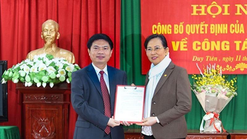 Hà Nam: Phó Chủ tịch UBND tỉnh được điều động giữ chức Bí thư Huyện ủy Duy Tiên