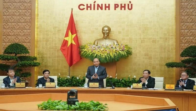 Thủ tướng Chính Phủ Nguyễn Xuân Phúc chủ trì Hội nghị về công nghiệp chế biến và cơ giới hóa nông nghiệp, sáng 21/2. Ảnh: VGP.