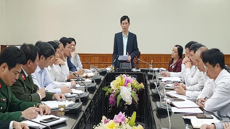 Phó Chủ tịch UBND tỉnh Bùi Quang Cẩm chủ trì cuộc họp của Ban chỉ đạo phòng, chống dịch bệnh Covid-19 tỉnh Hà Nam