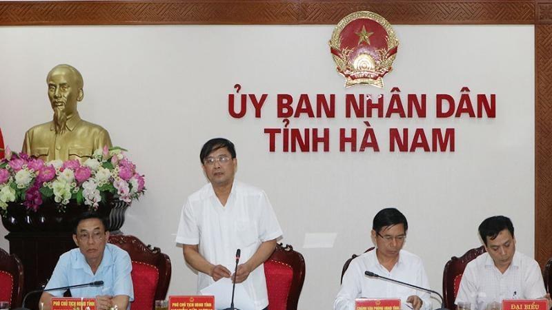 Phó Chủ tịch UBND tỉnh Hà Nam Nguyễn Đức Vượng đã chủ trì phiên họp của UBND tỉnh chiều 4/5.