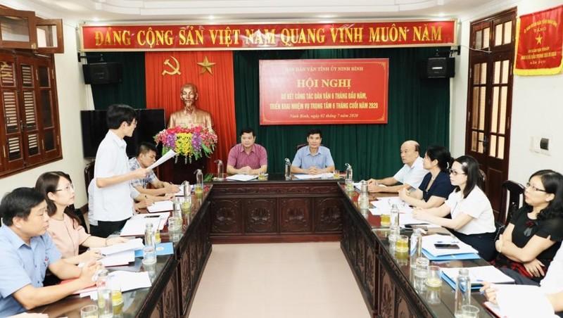 Đồng chí Đỗ Việt Anh, TVTU, Trưởng Ban Dân vận Tỉnh ủy, Chủ tịch Ủy ban MTTQ Việt Nam tỉnh chủ trì Hội nghị.