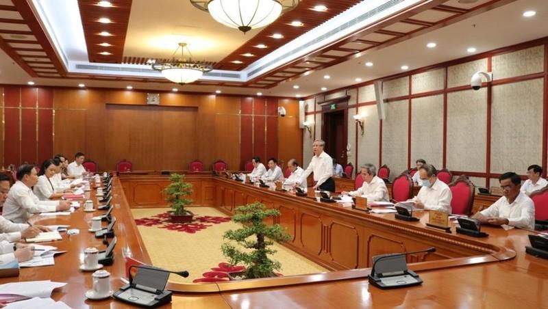 Buổi làm việc của Bộ Chính trị, Ban Bí thư cho ý kiến vào văn kiện và nhân sự Đại hội Đảng bộ tỉnh Ninh Bình nhiệm kỳ 2020-2025.