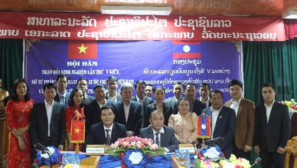 Sở Tư pháp tỉnh Thanh Hóa thăm và làm việc với Sở Tư pháp tỉnh Hủa Phăn Nước CHDCND Lào
