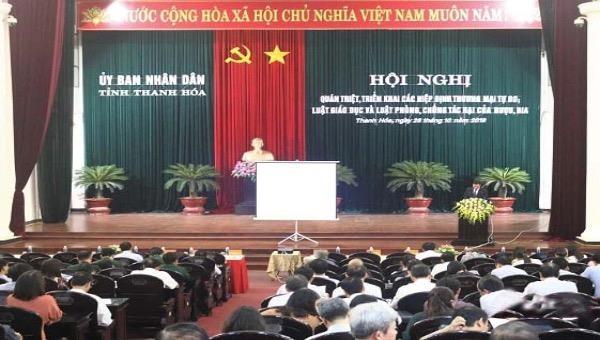 Thanh Hoá: Triển khai một số văn bản pháp luật
