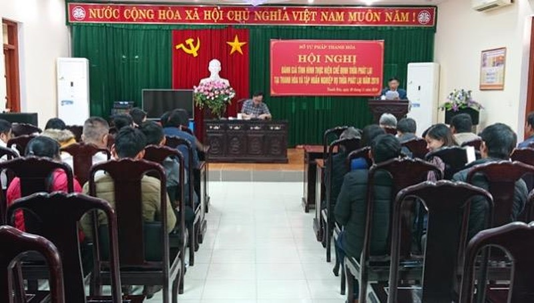 Thanh Hoá: Sở Tư pháp tập huấn nghiệp vụ chế định thừa phát lại
