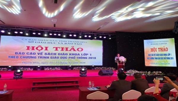 Hội thảo tập trung hàng ngàn người được Sở GD-ĐT tỉnh Thanh Hóa tổ chức khi dịch Covid - 19 vẫn diễn biến phức tạp đã phải rút ngắn chương trình.