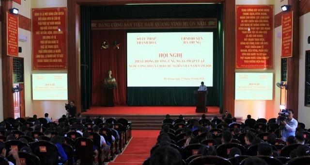 Thanh Hoá: Phát động hưởng ứng Ngày Pháp luật Việt Nam năm 2020