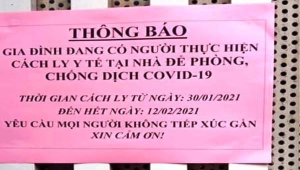 Cách ly 25 gia đình ở Nga Sơn để phòng chống Covid-19