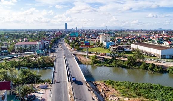 Một góc phía Nam cầu Phủ, xã Thạch Bình, TP. Hà Tĩnh. Ảnh: Nguyễn Thanh Hải