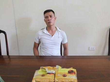 Vừa ra tù lại bị bắt khi đang vận chuyển 2kg ma túy