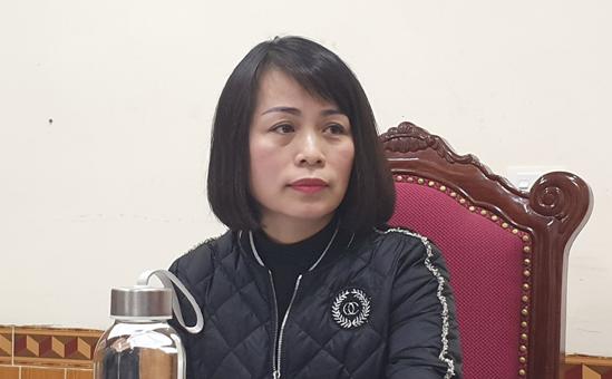 Bà Phan Thị Tố Hoa, Giám đốc Sở Nội vụ Hà Tĩnh.