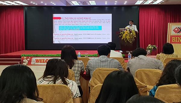 Hà Tĩnh: Tập huấn kiến thức pháp luật cho đội ngũ báo cáo viên cấp tỉnh và các huyện thị