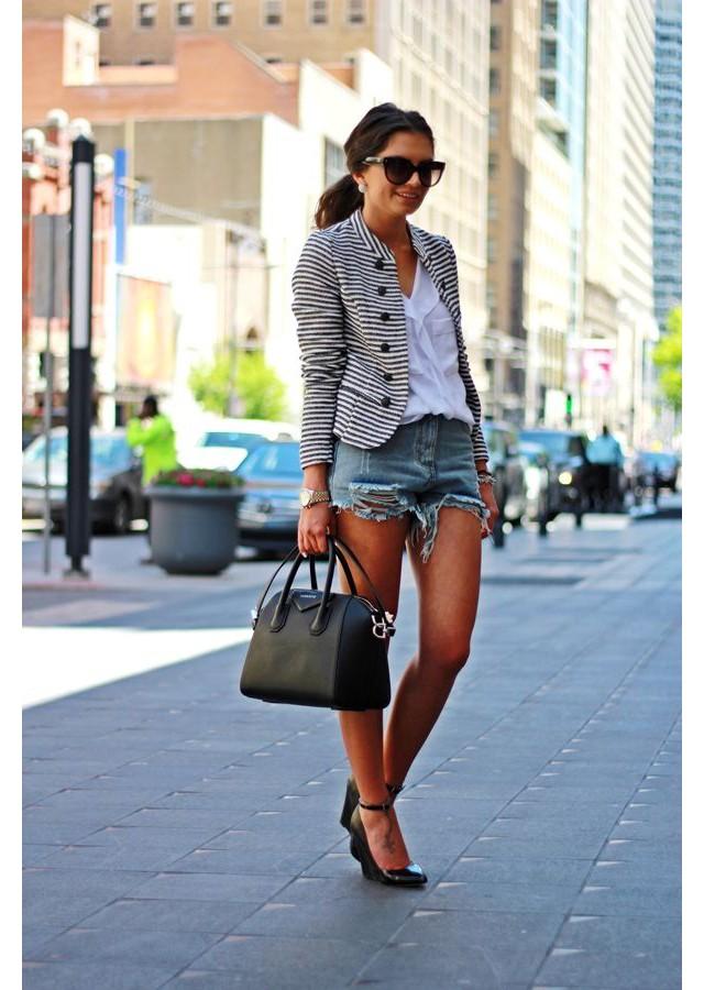 Kết quả hình ảnh cho Áo blazer + quần short châu âu