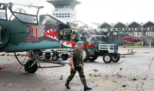 Sân bay quân sự của Bờ Biển Ngà sau vụ lính Pháp đột kích
