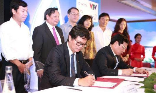 Lễ ký kết giữa Bộ VHTTDL và Đài THVN về du lịch trên truyền hình quốc gia
