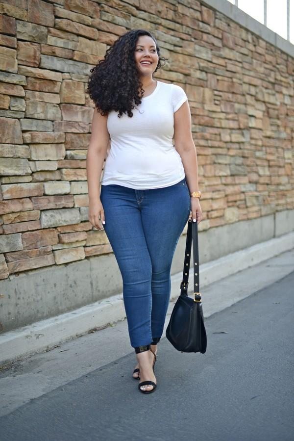 Kết quả hình ảnh cho lựa chọn quần bò phù hợp cô nàng béo