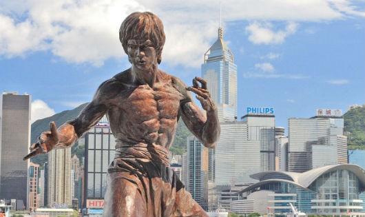 Tượng Lý Tiểu Long ở Hong Kong