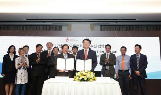 Tổng cục Du lịch Việt Nam và Tổng cục Du lịch Hàn Quốc ký kết Biên bản ghi nhớ hợp tác phát triển Du lịch năm 2017