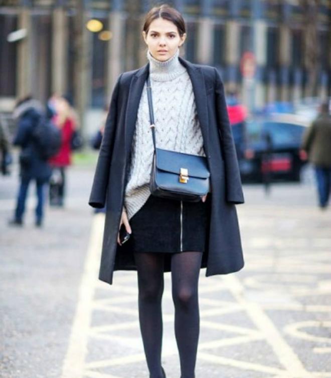 Kết quả hình ảnh cho áo len và chân váy sao Châu Âu