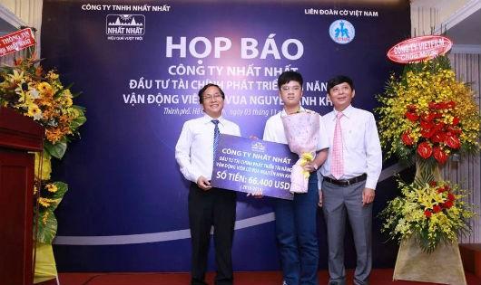 Cty TNHH Nhất Nhất hỗ trợ gần 1,5 tỷ đồng đầu tư cho Nguyễn Anh Khôi