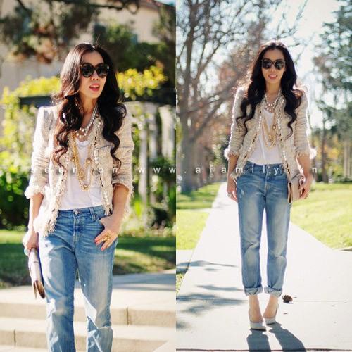 Kết quả hình ảnh cho quần jeans xắn gấu