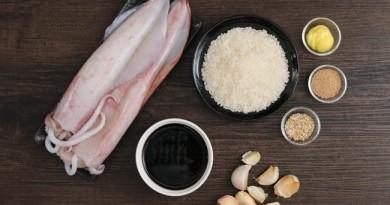 Kết quả hình ảnh cho Mực nhồi cơm với sốt teriyaki