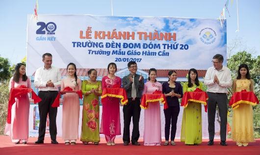 Khánh thành trường Đèn Đom Đóm thứ 20 tại xã Hàm Cần, huyện Hàm Thuận Nam, tỉnh Bình Thuận