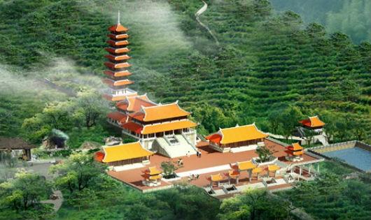 Kiến trúc chùa Đại Tuệ trên đỉnh núi Đại Huệ
