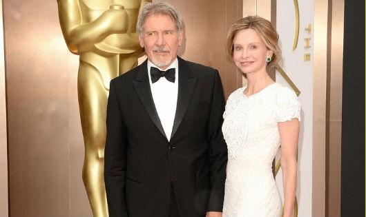 Vợ chồng Harrison Ford-Calista Flockhart tại lễ trao giải Oscar 2014