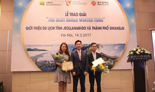 Lễ trao giải nhằm thúc đẩy sự phát triển của du lịch Hàn Quốc