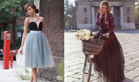 Ngọt ngào với váy tulle