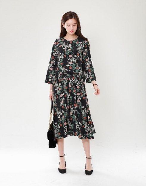 Đầm in họa tiết hoa
